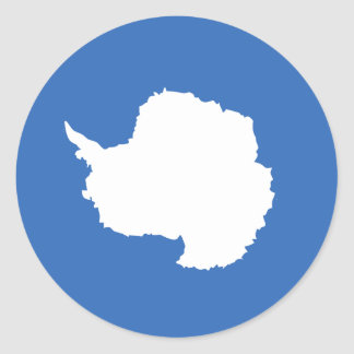 Antarctica Flag Round Sticker