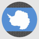 Antarctica Flag Round Stickers