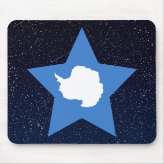 Antarctica Flag Star In Space Mouse Pad
