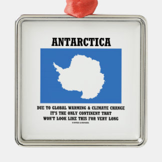 Antarctica Global Warming Climate Change Continent Silver-Colored Square Decoration