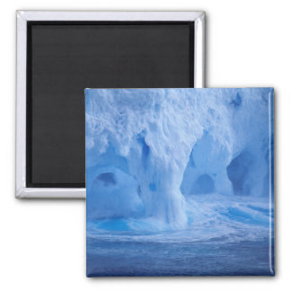 Antarctica. Iceberg with breaking waves Square Magnet