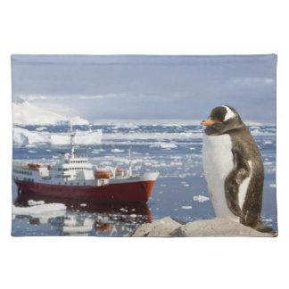 Antarctica, Neko Cove (Harbour). Gentoo penguin Placemat
