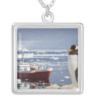 Antarctica, Neko Cove (Harbour). Gentoo penguin Silver Plated Necklace