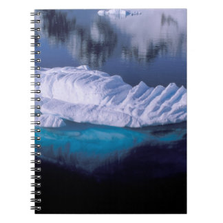 Antarctica, Paradise Bay. Iceberg in crystal Notebook