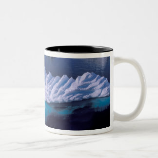 Antarctica, Paradise Bay. Iceberg in crystal Two-Tone Coffee Mug