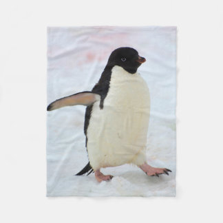 Antarctica. Petermann Island. Adelie penguin Fleece Blanket