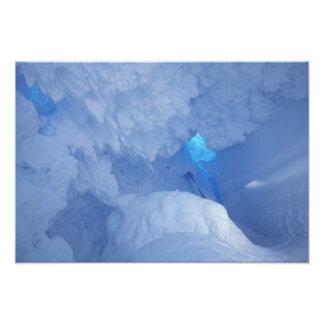 Antarctica, Ross Island, Cape Evans, Snow cave Photo Print