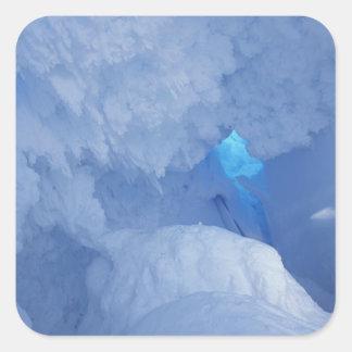 Antarctica, Ross Island, Cape Evans, Snow cave Square Sticker
