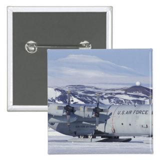 Antarctica, Ross Island, McMurdo station, C-130 15 Cm Square Badge