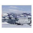 Antarctica, Ross Island, McMurdo station, C-130 Postcard
