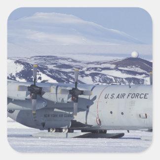 Antarctica, Ross Island, McMurdo station, C-130 Square Sticker