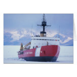 Antarctica, Ross Island, McMurdo Station, USCG Greeting Card