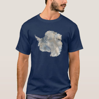 Antarctica satellite photo-science travel image T-Shirt