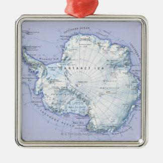 Antarctica Silver-Colored Square Decoration