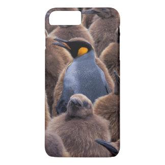 Antarctica, South Georgia Island, King penguins iPhone 8 Plus/7 Plus Case