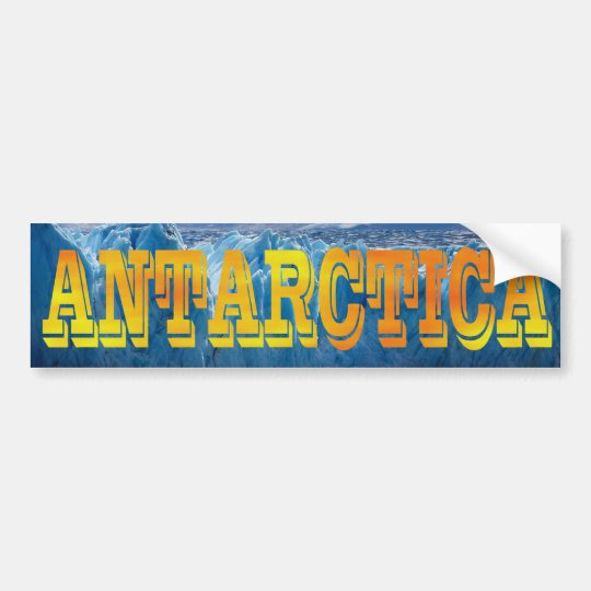 Antarctica South Pole Bold Yellow Orange All Caps