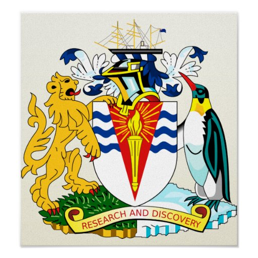 Antartica Coat of Arms detail Posters