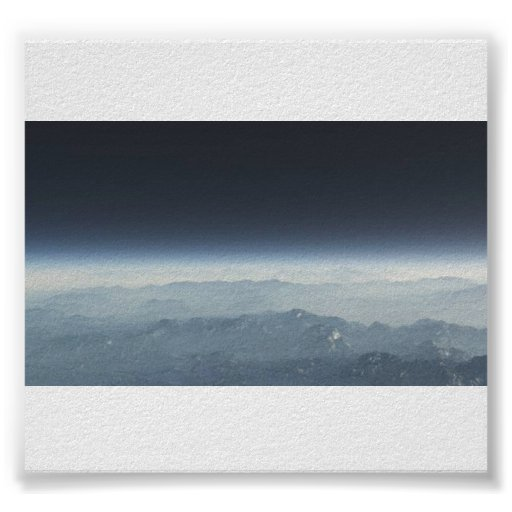 Antartica Shot from Space Print