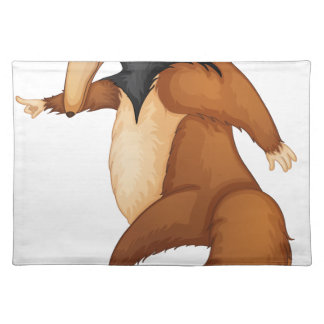 anteater cloth placemat