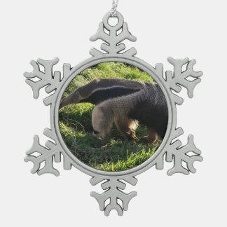 Anteater Pewter Snowflake Decoration