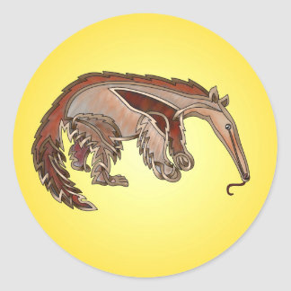 Anteater Round Stickers