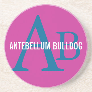 Antebellum Bulldog Breed Monogram Drink Coaster