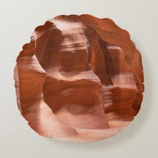 Antelope Canyon, Naturally Lit Round Cushion
