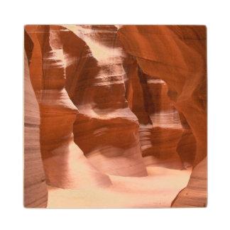 Antelope Canyon, Naturally Lit Wood Coaster