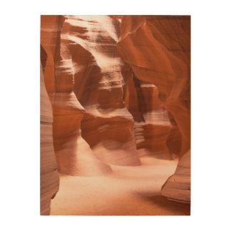 Antelope Canyon, Naturally Lit Wood Print