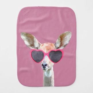 Antelope cute and funny woodland animal baby kids burp cloth