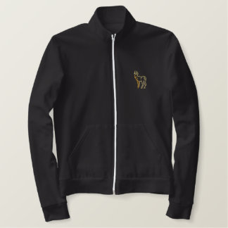 Antelope Outline Embroidered Jacket