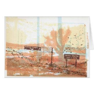 Antelope Valley Freeway Joshua Tree Art Card