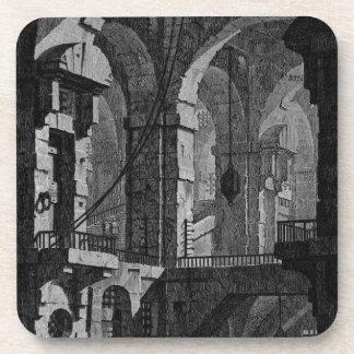 Antenna dark prison by Giovanni Battista Piranesi Coaster