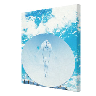 Antenna in Space Stretched Canvas Print