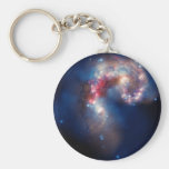 Antennae Galaxies Colourful Composite Basic Round Button Key Ring