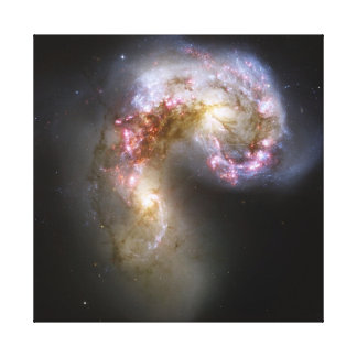 Antennae Galaxies on canvas Stretched Canvas Print
