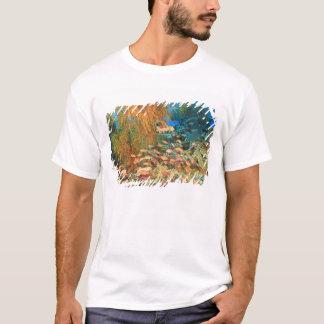Anthias fish and black coral, Wetar Island, T-Shirt
