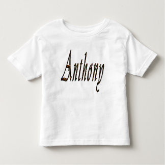 Anthony, Name, Logo, Toddlers White T-shirt