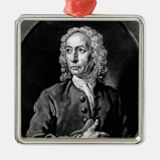 Anthony Sayer, engraved by John Faber Jr Silver-Colored Square Decoration