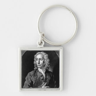 Anthony Sayer, engraved by John Faber Jr Silver-Colored Square Key Ring