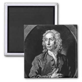Anthony Sayer, engraved by John Faber Jr Square Magnet