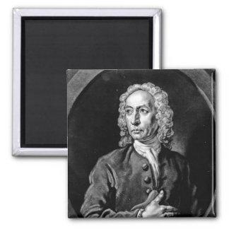 Anthony Sayer, engraved by John Faber Jr Square Magnet