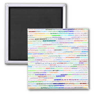 Anthony Text Design II Square Magnet