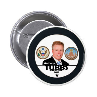 Anthony Tubbs for President 2012 6 Cm Round Badge