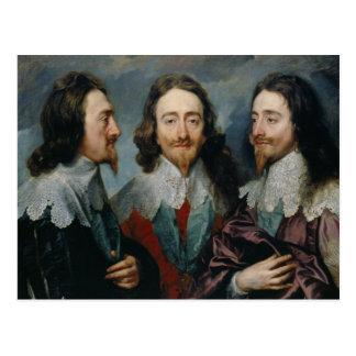 Anthony van Dyck - Charles I (1600-49) Postcard
