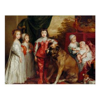 Anthony van Dyck- Five Eldest Children of Charles Postcard