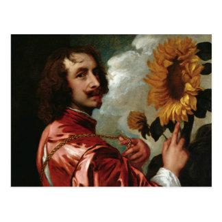 Anthony van Dyck - Self-Portrait Postcard