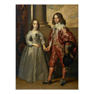 Anthony van Dyck - William with his bride Poster