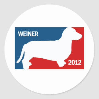 ANTHONY WEINER 2012 ROUND STICKER