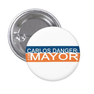 Anthony Weiner - Carlos Danger for Mayor 3 Cm Round Badge
